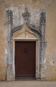 Château de Beaupuy (Saulgé), porte d'entrée.