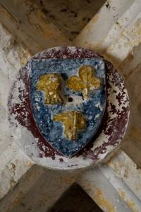 Chaunay, église Saint-Pierre, chapelle latérale, armoirie anonyme.