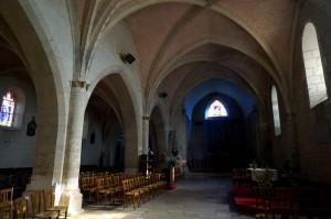 Le Vigeant, église Saint-Georges, intérieur, nef