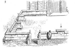 Parvis de justice de l'église Sainte-Radegonde à Poitiers, dans Viollet le duc, Dictionnaire raisonné de l'architecture française du XIe au XVIe siècle, vol. 7.