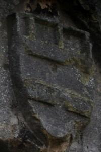 Poitiers, remparts nord, tour du cordier, armoirie de Jean Macé , 1407-1408.