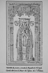 Plate tombe de Enguerrand de Bouhaim. Poitiers, église de Saint-Hilaire (coll. Gaiginières).