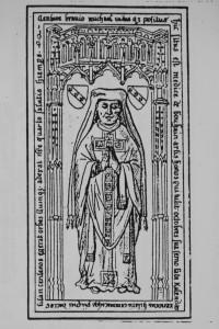 Plate tombe de Michel de Bouhaim. Poitiers, église de Saint-Hilaire (coll. Gaiginières).