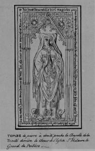 Plate tombe de Pierre Negrand. Poitiers, église Saint-Hilaire (coll. Gaignières).