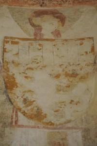 Ecusson aux armes de Arthur de Richemont (armoirie 1). Prieuré Sainte Madeleine de la Maison Dieu,Chatillon-sur-Thouet.