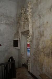 Bourg-Archambault, château, logis, portail d'entrée de la chapelle.