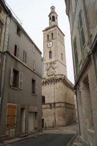 Niort, ancien hôtel de ville (le Pilori), beffroi avec décor armoirié.