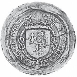 Sceau de la reine Claude de France (1515-1524).