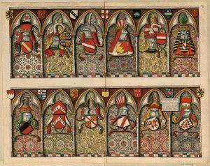 Poitiers, église des Jacobins, stalles du chœur. Paris, BnF, département Estampes et photographie, EST VA-86, f. 1.