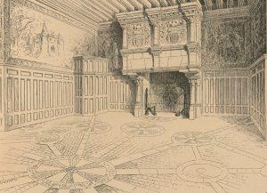 G. Balleyguier, La grande salle du château de la Roche-du-Maine (Paysages et monuments du Poitou, t. 4, 1891).