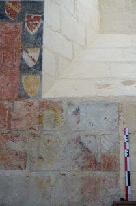 Litre funéraire aux armes Tiercelin. Prinçay, église Saint-Gervais-et-Saint-Protais.