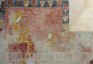 Tableau votif armorié. Prinçay, église Saint-Gervais-et-Saint-Protais.