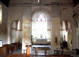 Antigny, Notre-Dame, nef (vue vers le chœur).