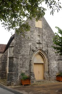 Curzay-sur-Vonne, église Saint-Martin, façade occidentale.