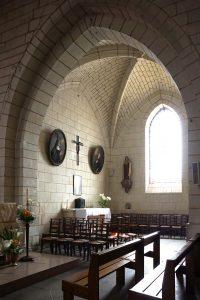 Naintré, église Saint-Vincent, chapelle est (intérieur).