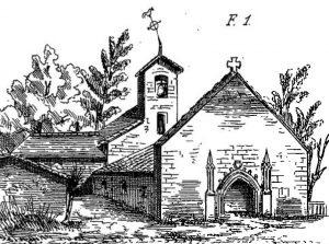 Saint-Romain, ancienne église Saint-Romain (Brouillet 1868, pl. 19).